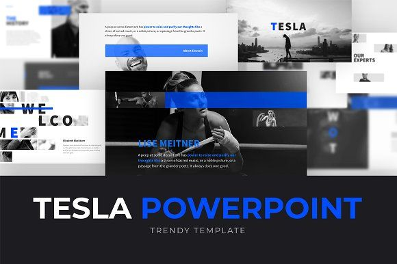 tesla powerpoint template by shapeslide on creativemarket