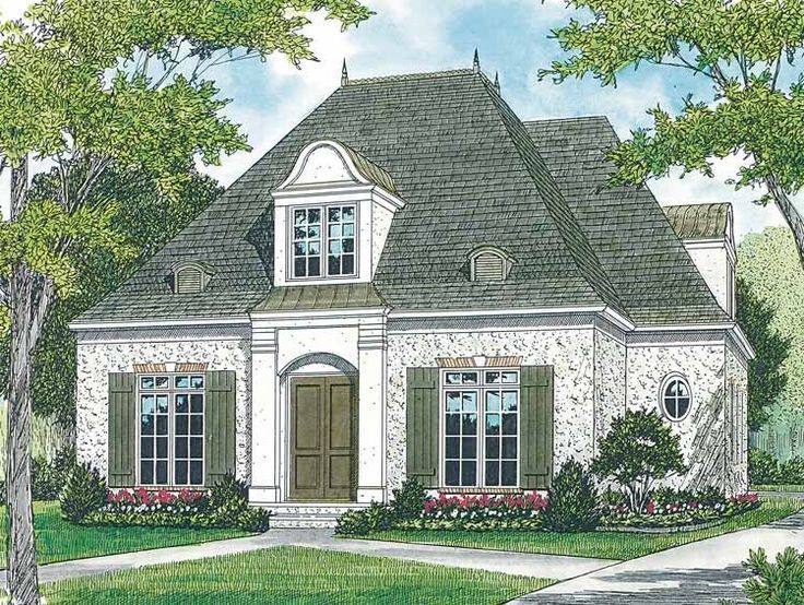 plan 48033fm petite french cottage french country house plans french country house and country houses - Small French Country Cottage House Plans