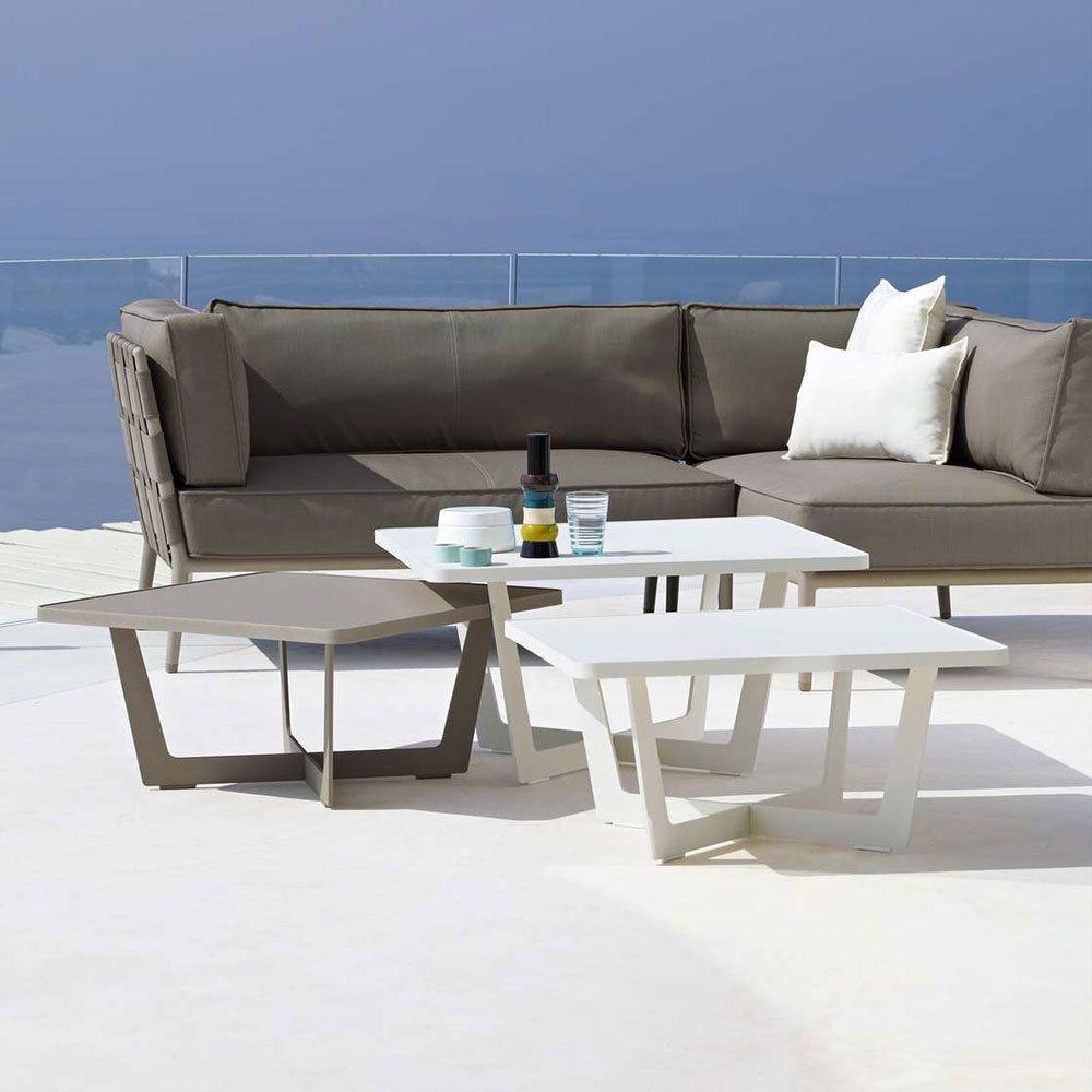 Cane Line Time Out Coffee Table Small Modern Outdoor Coffee Tables Outdoor Coffee Tables Furniture