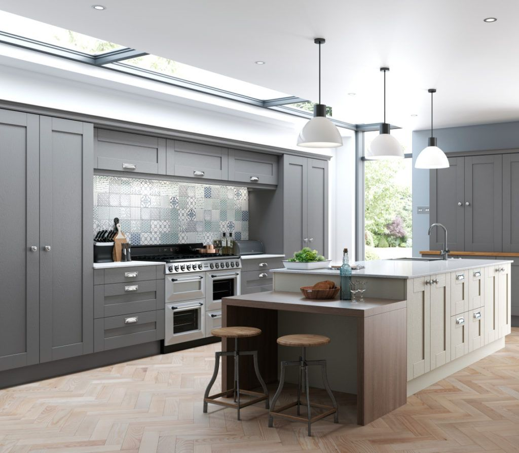 Finsbury Dust Grey & Mussel – Kitchens Direct NI