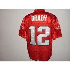Patriots  12 Tom Brady Red QB Practice Stitched NFL Jersey  9252e5f84