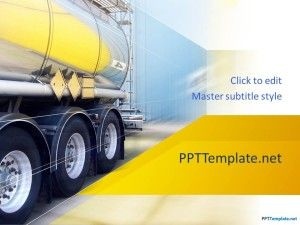 Free Truck PPT Template for movers or trucking business PPT