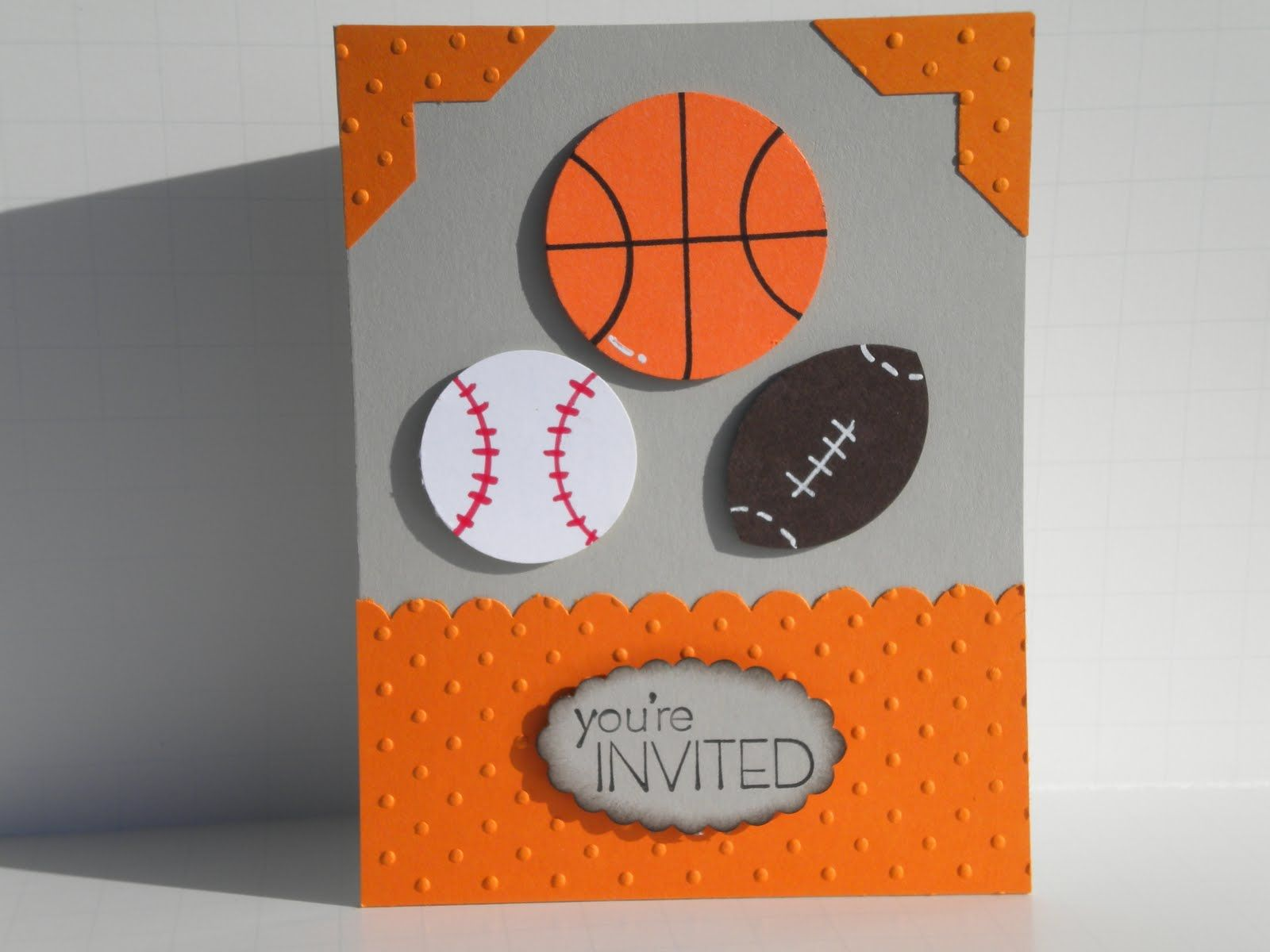 Handmade sports themed birthday invitations google search for handmade sports themed birthday invitations google search stopboris Images