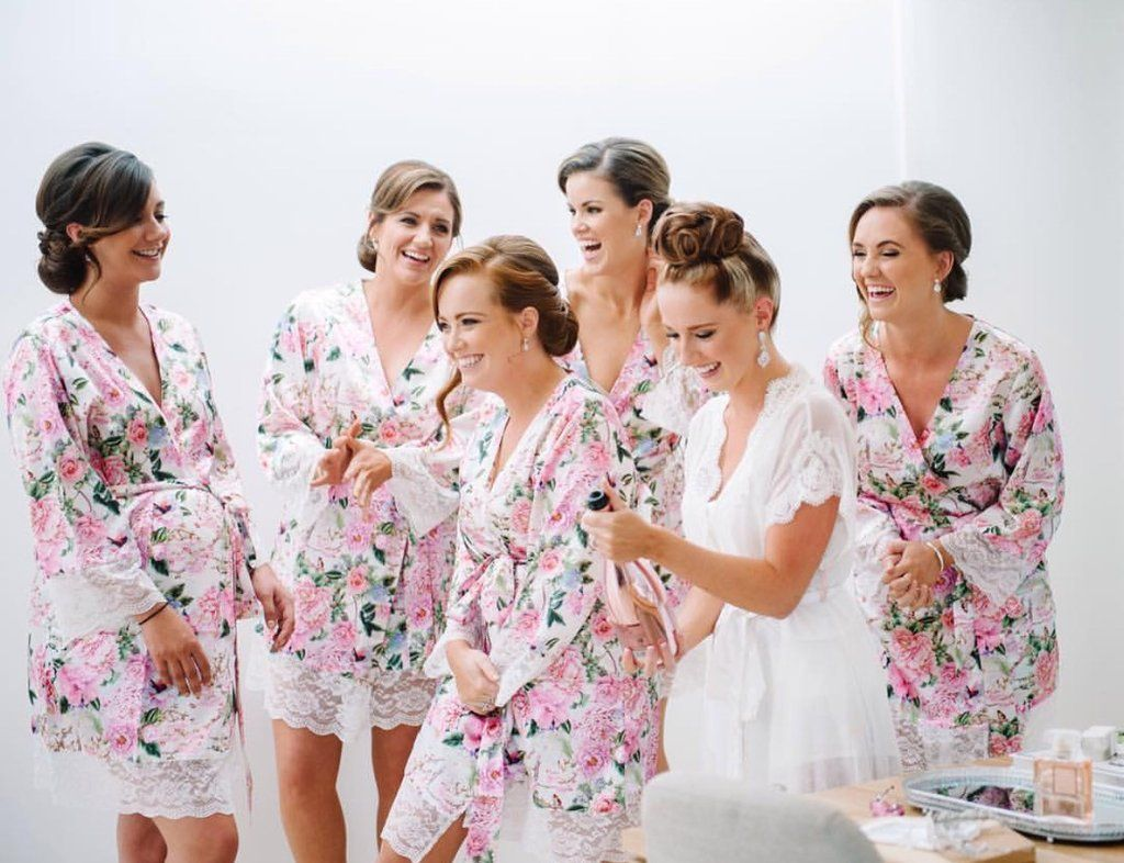 good out x entire collection most fashionable 8-stylish-bridesmaid-kimono-robe-ideas-5 | wedding | Lace ...