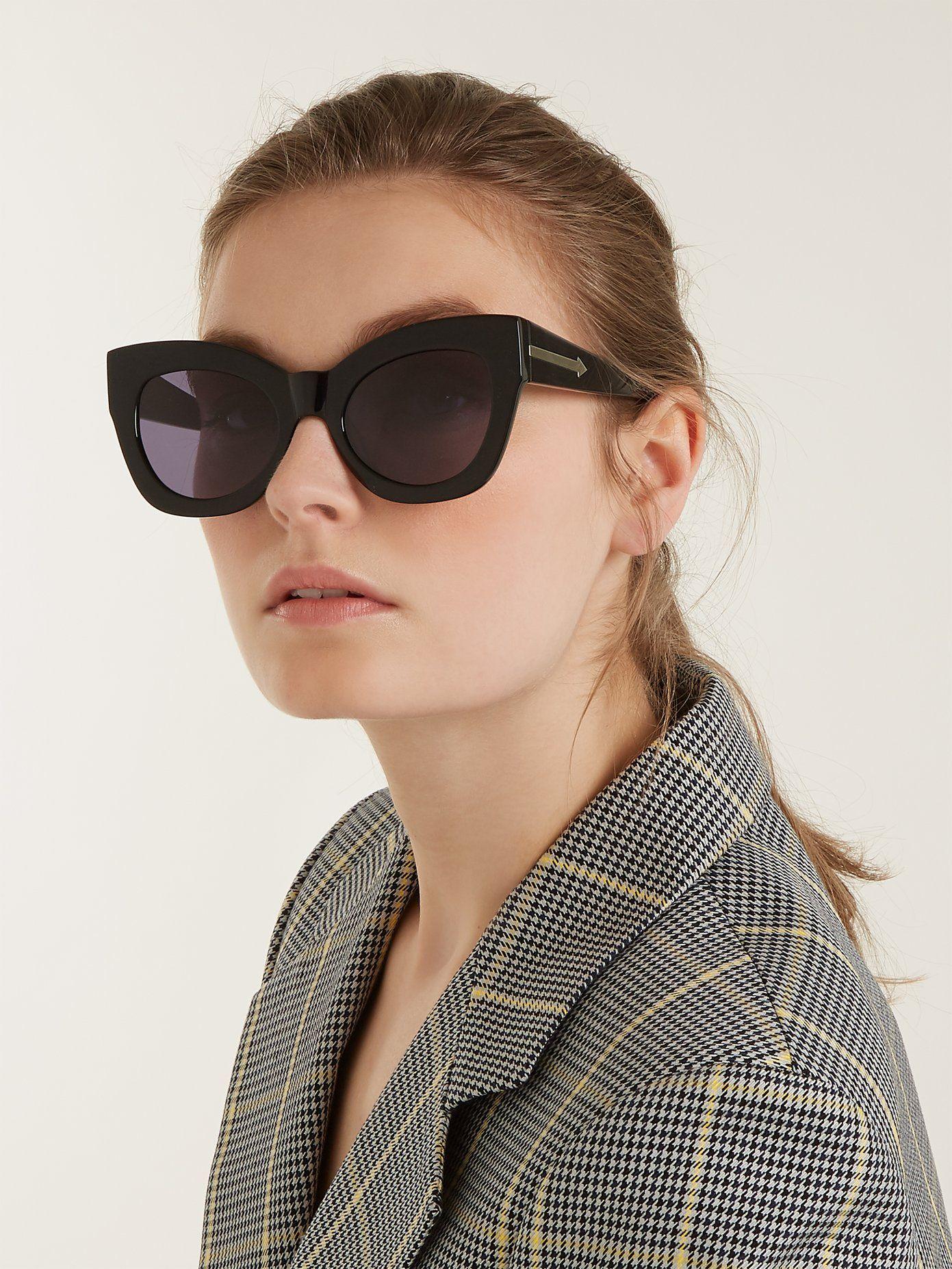 30d2366f9d4 Karen Walker Northern Lights cat-eye acetate sunglasses