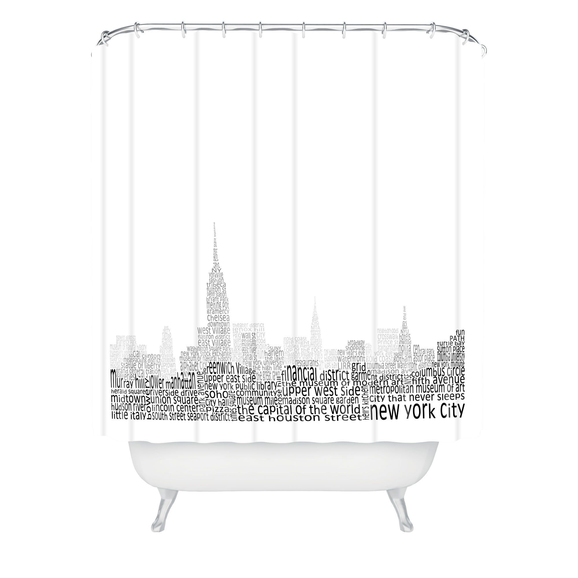 New York Skyline 1 Shower Curtain Restudio Designs With Images