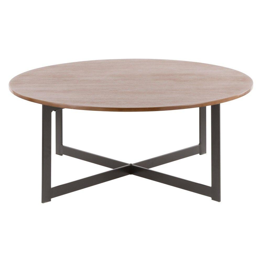 15 Cosmopolitan Industrial Coffee Table Walnut Lumisource Target Coffee Table Walnut Coffee Table Industrial Coffee Table