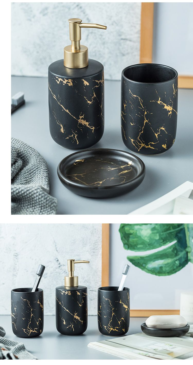 Black Marble Bath Accessories Marble Bathroom Accessories Black Marble Bathroom Black Bathroom Accessories