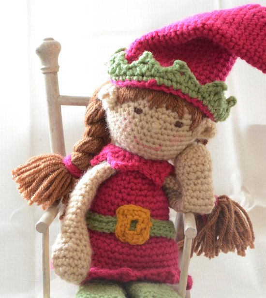 Crochet Elf on the Shelf Christmas Elf Doll by Crochet365KnitToo ...