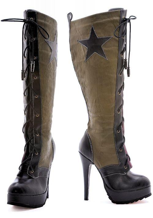 2ed171f2c58 Military Style High Heel Boots Leg Avenue