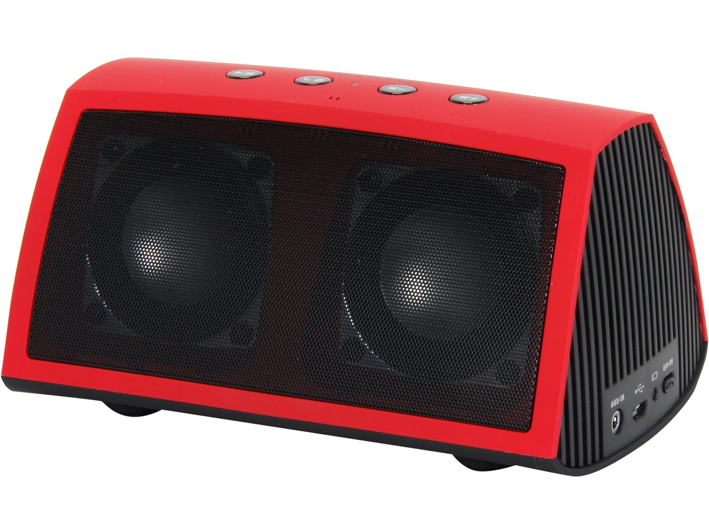 Rosewill Rosewill R-Studio AMPBOX Bluetooth Portable Speaker with Built-In Mic and Rechargeable Battery - Speakers - Retail Packaging - Red. A2DP Bluetooth with 30 foot range for wireless music streaming. Built-in microphone for phone calls. Rechargeable Lithium Polymer battery offers up to 8 hours of playtime. Works with any audio device that has Bluetooth or 3.5mm audio plug. A2DP Bluetooth with 30 foot range for wireless music streaming ^Built-in microphone for phone calls…