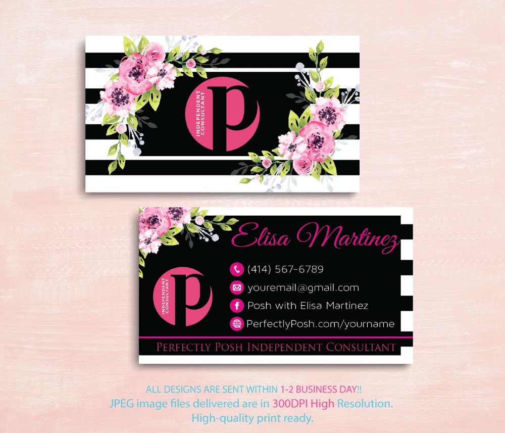 Perfectly Posh Business Cards Personalized Perfectly Posh Consultant Ps08 Perfectly Posh Consultant Perfectly Posh Perfectly Posh Business