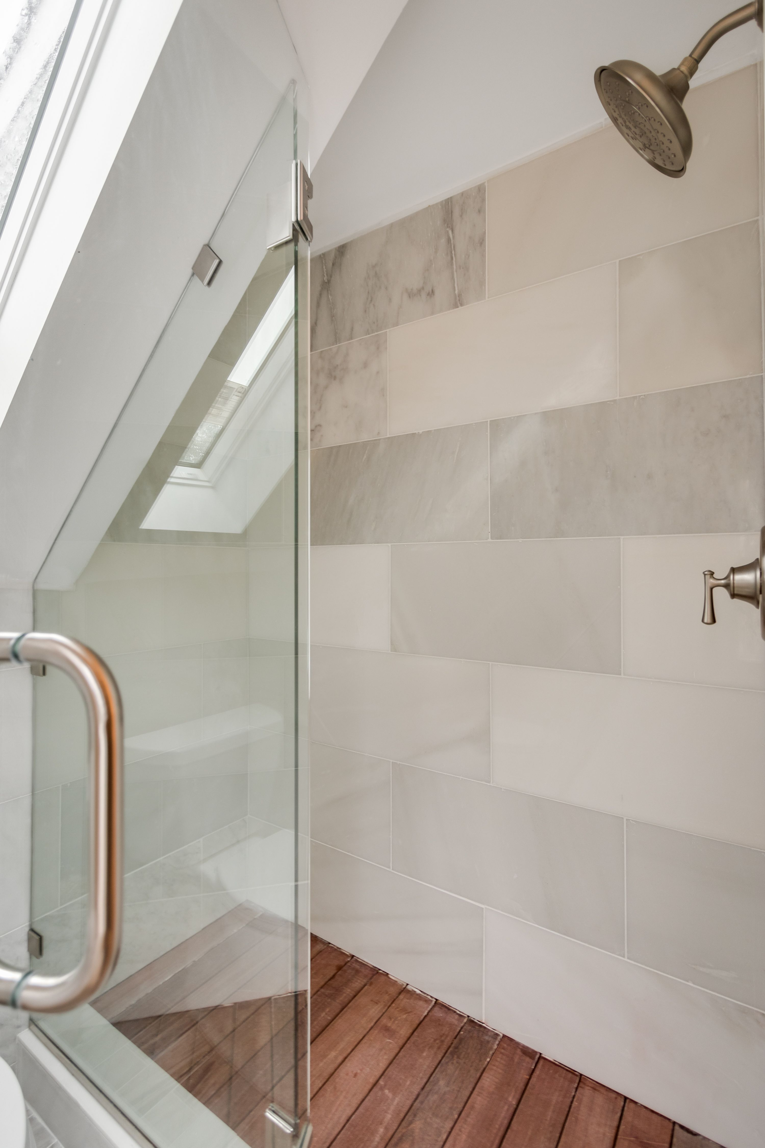 Incroyable Marble Shower Surround With IPE Wood Floor. This Combination Creates A  Spa Like Feel #armordevelopmenthomes