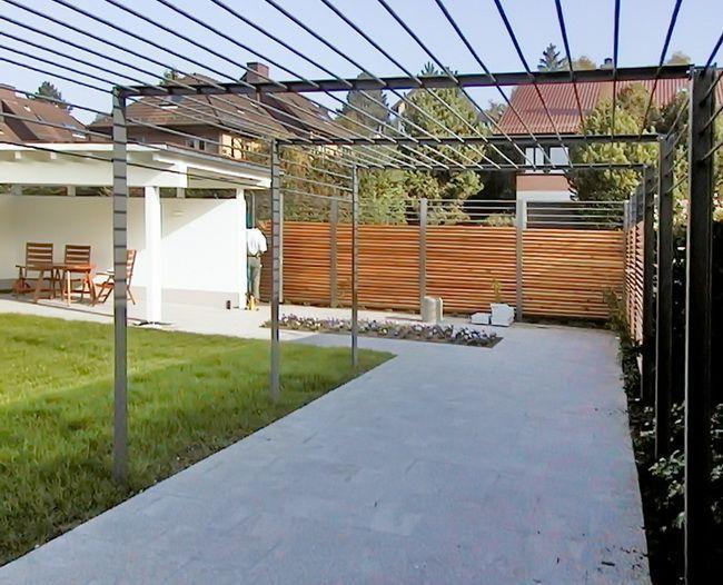 Gallery Of Pergola Rankhilfen Mit Sichtschutz Sichtschutz Terrasse