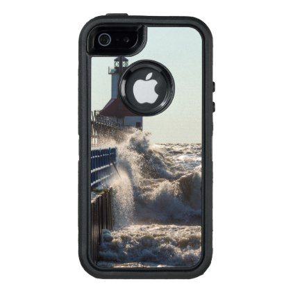 Fierce Waves At St Joseph OtterBox Defender iPhone Case - photography gifts diy custom unique special