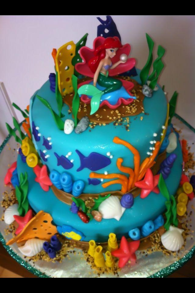MermaidCakeDesigns Top of The Little Mermaid cake Party