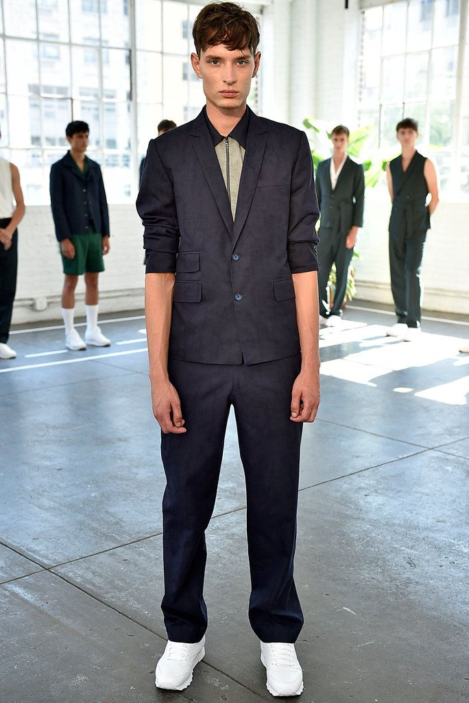 A look from the Carlos Campos Spring 2016 Menswear collection.