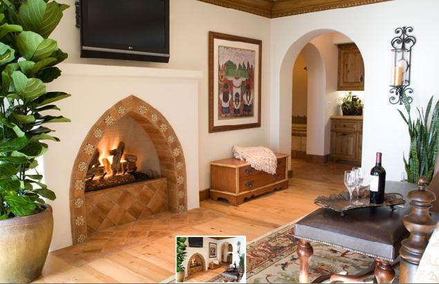 Past Concept Design | Private San Clemente Residence #interiordesign #orangecounty #homeremodel  #beachouse #livingroom #fireplace #tile
