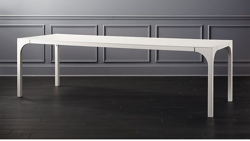 Aqua Virgo Large White Dining Table White Dining Table Modern