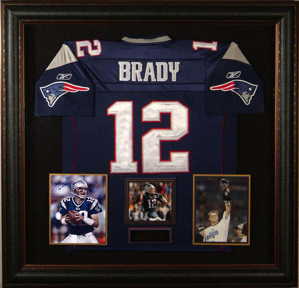 Tom Brady Autographed Patriots Photo with Framed Jersey | Jersey ...