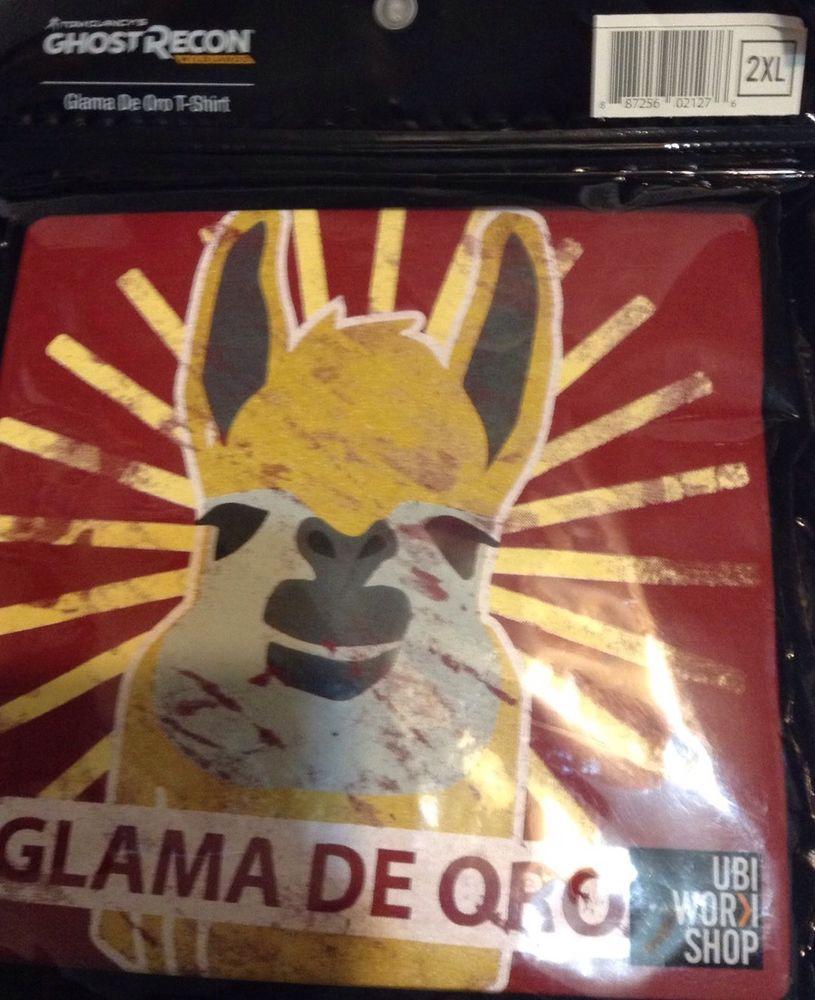 Glama de oro shirt 2xl llama tom clancys ghost recon