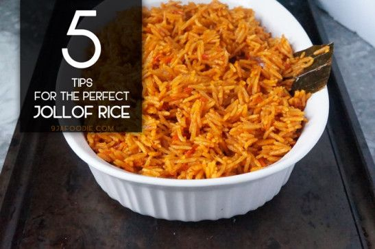 5 tips for the perfect Jollof rice