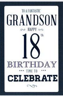 To A Fantastic Grandson Happy 18th Birthday 8431 The Big
