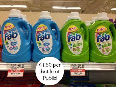 Cheap Fab Laundry Detergent At Publix Fab Laundry Detergent