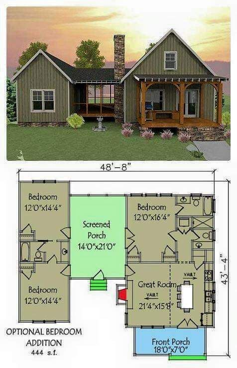 This Seems Like An Awesome Home Vacation House Plans House Plans Dog Trot House Plans