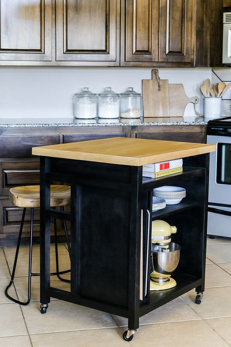 How to build a rolling kitchen island free plans by jen woodhouse