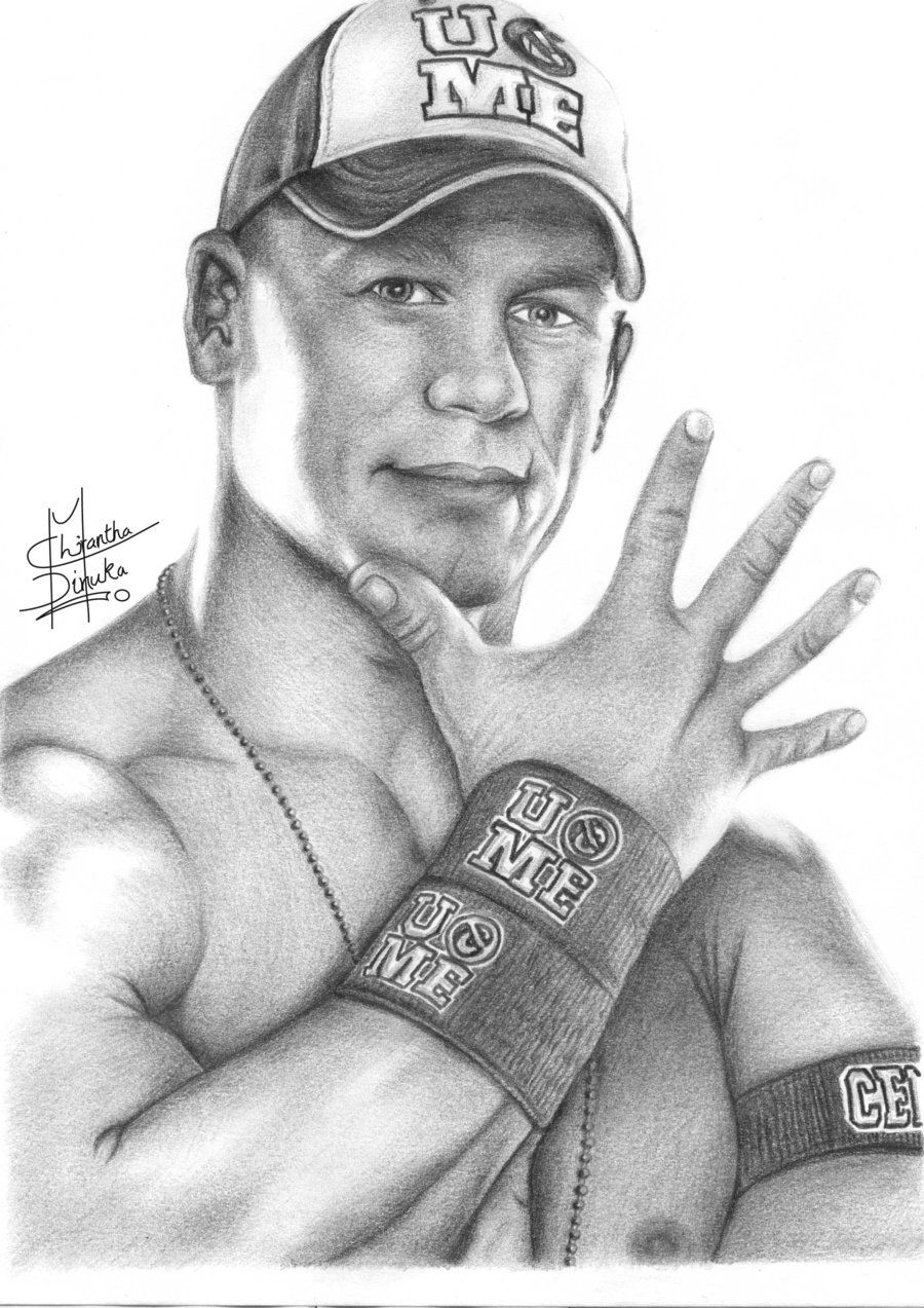 Uncategorized Wwe Drawing Pictures pencil sketches of people john cena drawing by chirantha traditional art drawings people