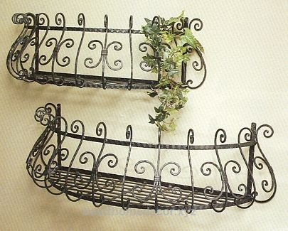 French Country Wall Planters Set Wrought Iron Decor French Country Decorating Iron Decor