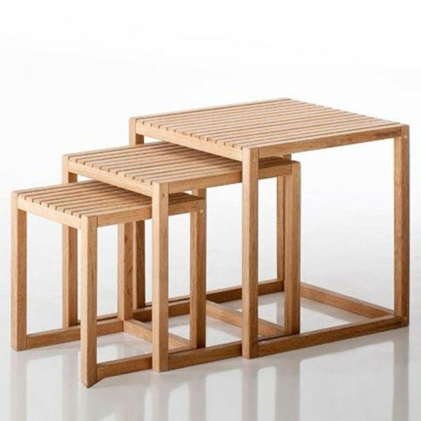 Une Table Gigogne Vous Offre Du Confort Et De L Esthetisme Archzine Fr Diseno Madera Mesas De Madera Decoracion De Muebles