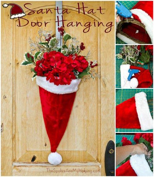 Chapeau de Père Noël Porte Vase - 20 Magical bricolage de Noël Accueil Décorations Vous aurez envie Right Now