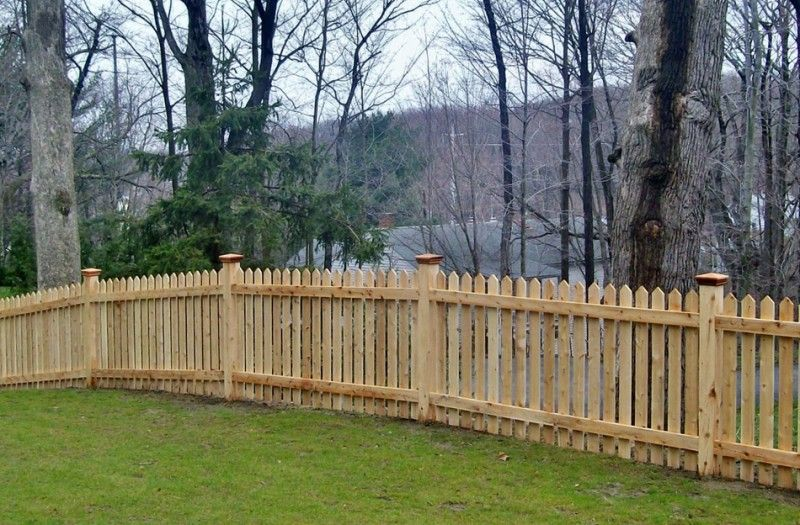 Picket Fences Installed By A Anastasio Fence Company Picket Fence Fence Design Wood Fence Design