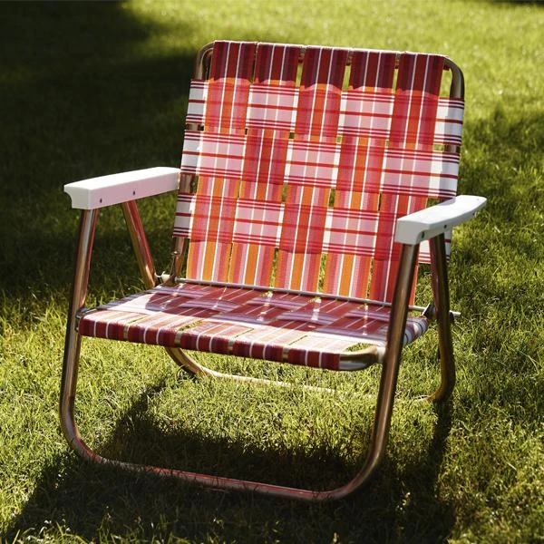 Retro Lawn Chair Pink Orange In 2020 Lawn Chairs Funboy