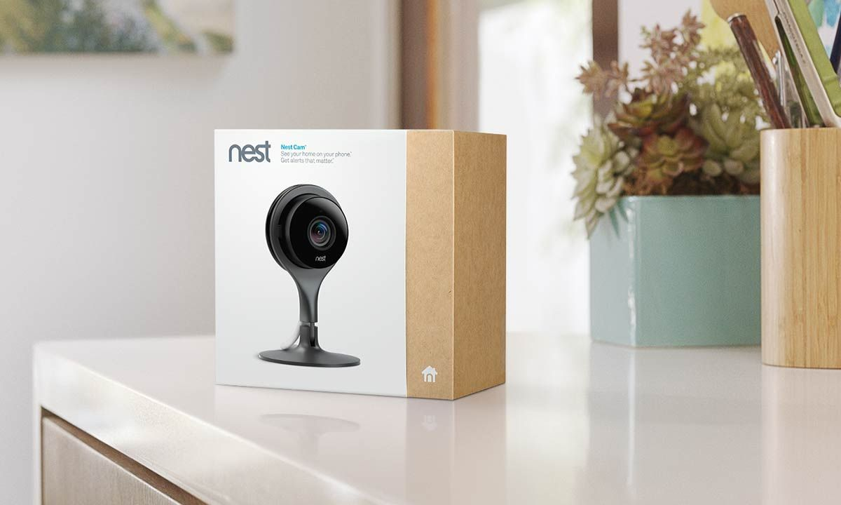 Google Nest Cam Indoor package design Home security