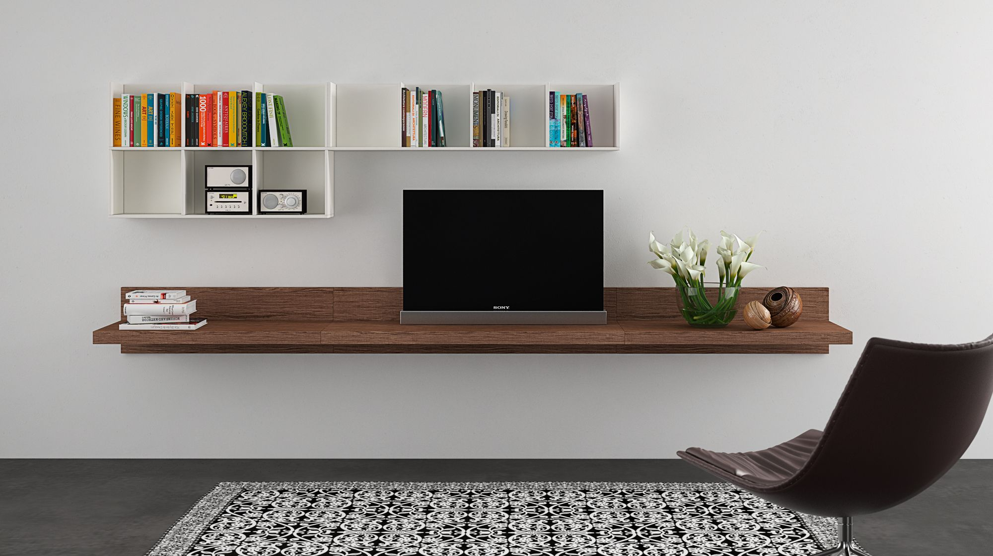 MENSOLE - Le nuove mensole porta tv e porta oggetti si combinano con ...