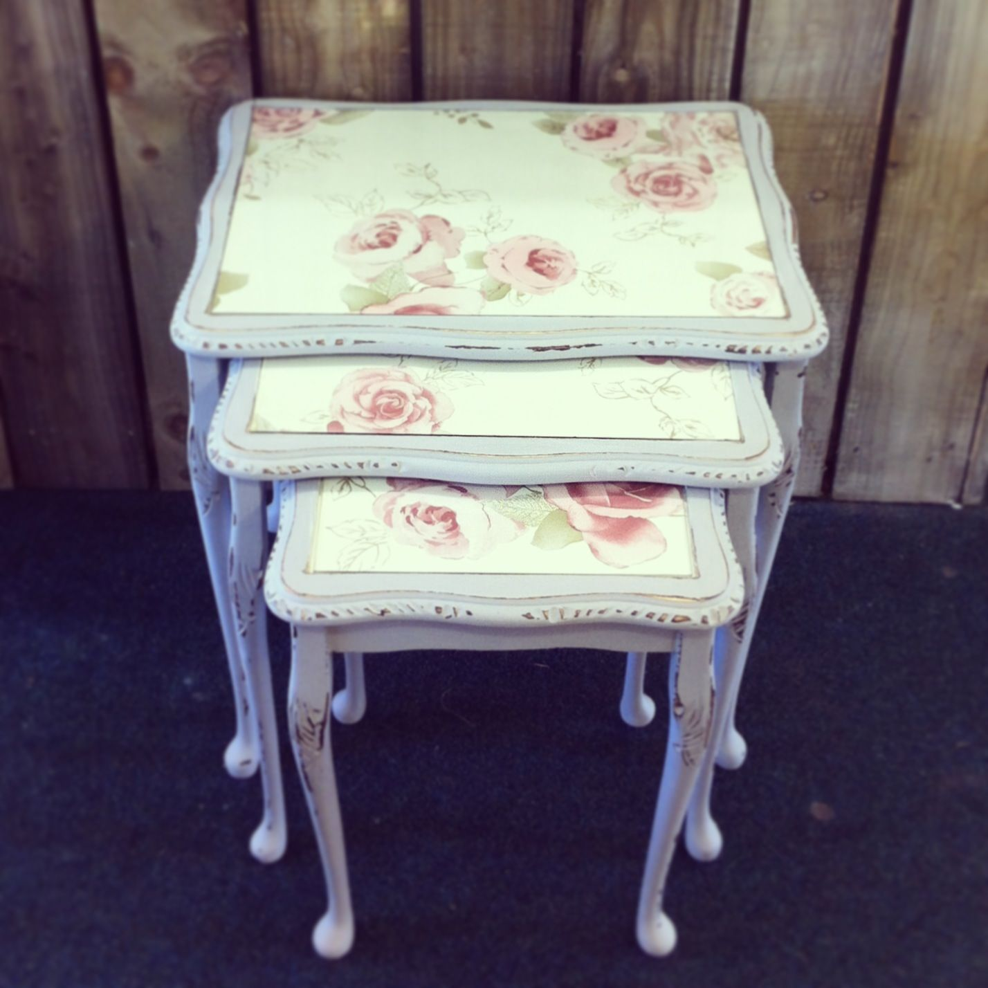 Muebles Shabby Chic Shabby Chic Nest Of Tables Would Love To Know How To Do