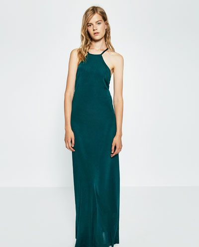 Image 1 of HALTER NECK DRESS from Zara