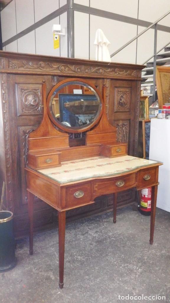 tocador modernista con espejo batiente antigedades muebles antiguos auxiliares antiguos