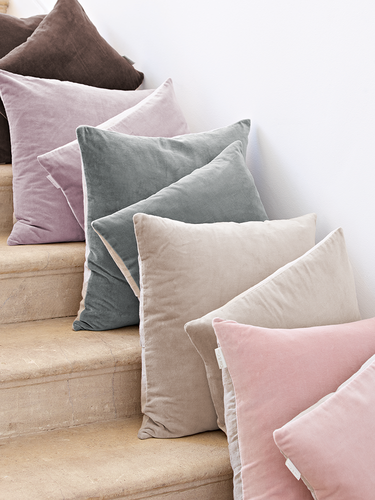 Fronted In Luxuriously Soft Velvet With A Natural Colour