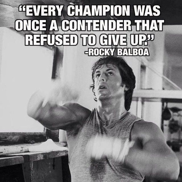 """Contenders Clothing on Instagram: """"Every champion was once a contender that refused to give up -Rocky Balboa #contender #champion #rockybalboa #boxing"""""""