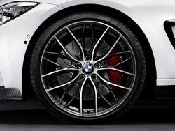 Bmw M Performance Double Spoke 405m 20 Forged Wheels With Tires Complete Set