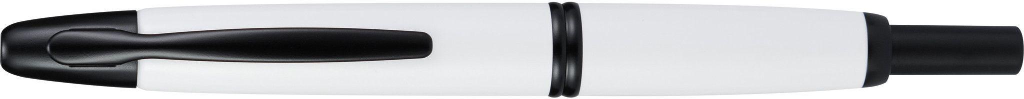 Pilot Vanishing Point White with Black Matte Trim Broad Fountain Pen
