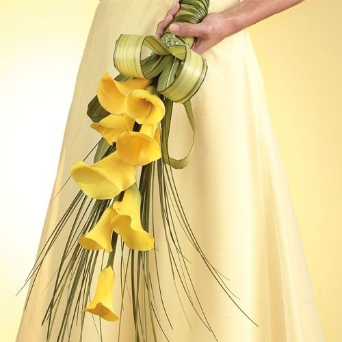 Image detail for -Yellow Mini Calla Lily Cascade Bouquet | Call Us 206-728-2588 ...