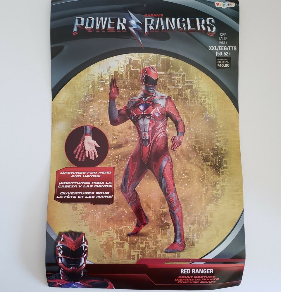 Adult Furry Flash adult red power ranger costume mens xxl 2xl 50 - 52 cosplay