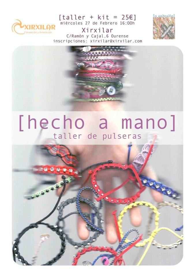 Obradoiro de pulseiras @ Xirxilar - Ourense taller manualidades diy