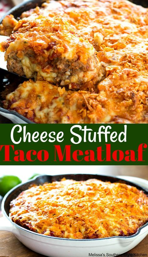Cheese Stuffed Taco Meatloaf With Images Taco Meatloaf