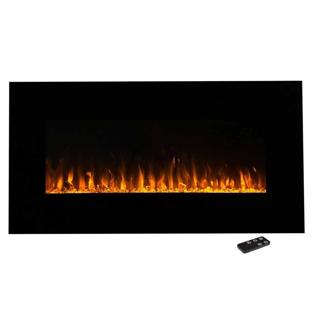 Electric Fireplace Wall Mounted Led Fire And Ice Flame With Remote